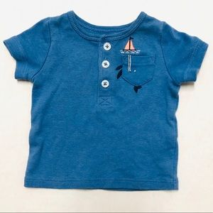 5/$25 Carters baby infant whale pocket top Newborn